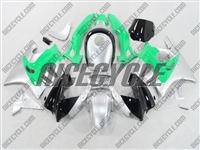 Honda CBR 600 F2 Mint Green/Silver Fairings