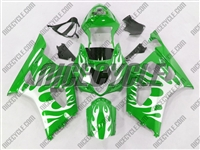Suzuki GSX-R 1000 Metallic Tribal on Green Fairings