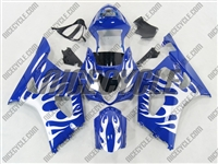 Suzuki GSX-R 1000 Metallic Tribal on Blue Fairings