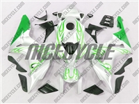 Honda CBR 1000RR Green Flame/White Fairings