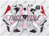Honda CBR 1000RR Red Flame/White Fairings