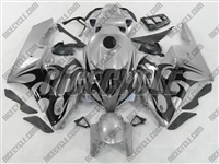Honda CBR 1000RR Silver/Black Tribal Fairings