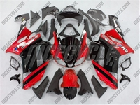 Kawasaki ZX6R etallic Red Monster-ous Fairings