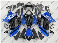 Kawasaki ZX6R Blue Metallic Monster-ous Fairings