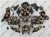 Honda CBR600RR Yellow/Green Camo Fairings