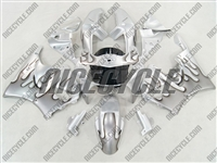 Honda CBR900RR Dark Silver Flame Fairings