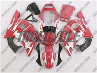 Yamaha YZF-R6 Red/Silver Tribal Fairings