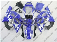 Yamaha YZF-R6  Blue/Silver Tribal Fairings