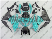 Blue Teal Kawasaki ZX6R Fairings