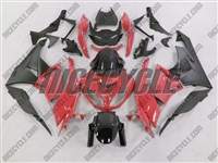 Kawasaki ZX6R Red Fairings