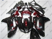 Kawasaki ZX6R Black/Maroon Accents Fairings