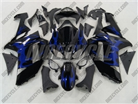 Kawasaki ZX6R Metallic Blue Tribal Fairings