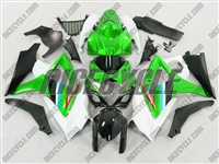 Suzuki GSX-R 1000 White/Green Fairings