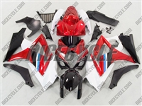 White/Red Suzuki GSX-R 1000 Fairings