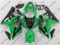 Green/Black Accent Suzuki GSX-R 600 750 Fairings