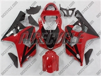 Red/Black Accent Suzuki GSX-R 600 750 Fairings