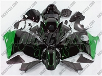 Suzuki GSX-R 1300 Hayabusa Green Flame on Black Fairings