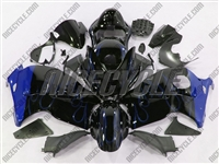 Suzuki GSX-R 1300 Hayabusa Blue Flame on Black Fairings