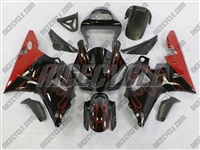Yamaha YZF-R1 Red Flames Fairings