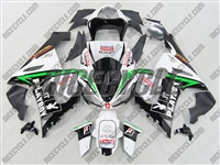 Kawasaki ZX6R Playboy Green Fairings