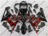 Kawasaki ZX6R Red Tribal Fairings