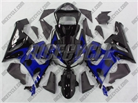 Kawasaki ZX6R Blue Tribal Fairings