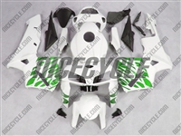 Honda CBR600RR Green Tribal on White Fairings