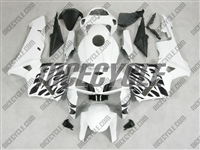 Honda CBR600RR Black Tribal on White Fairings
