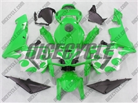 Honda CBR600RR Silver Tribal on Green Fairings
