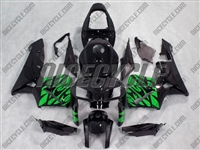 Honda CBR600RR Green Tribal on BlackFairings