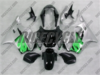 Silver/Green Honda CBR 600 F4 Fairings
