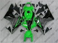 Honda CBR600RR Green/Silver Fairings