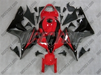Red/Silver Honda CBR600RR Motorcycle Fairings