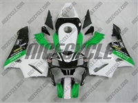 Honda CBR600RR Green/White Race Fairings
