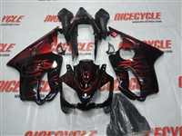 Honda CBR600 F4i Deep Red Flames Fairings
