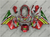 Honda CBR600 F4i Candy Red Movistar Fairings