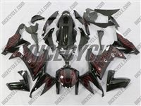 Kawasaki ZX10R Red Fire Fairings