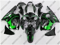 Kawasaki ZX12R Tribal Green Fairings
