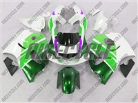 Green/White Suzuki SRAD GSX-R 600 750 Fairings