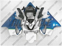 Honda CBR600 F4i Blue Fade White Fairings