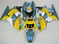 Yellow/Cyan Honda CBR600 F3 Motorcycle Fairings