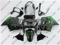 Honda VFR-800 Green Flame Fairings
