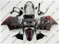 Red Flame Honda VFR-800 Motorcycle Fairings