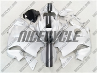 Racing Stripe Silver Suzuki GSX-R 1300 Hayabusa Fairings