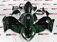 Suzuki GSX-R 1300 Hayabusa Green Airbrush on Black Fairings