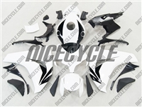 Honda CBR1000RR White/Black Motorcycle Fairings