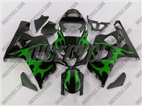 Tribal Green Suzuki GSX-R 600 750 Fairings