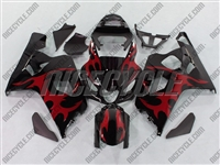 Tribal Red Suzuki GSX-R 600 750 Fairings