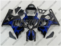 Tribal Blue Suzuki GSX-R 600 750 Fairings