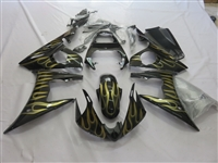 Yamaha YZF-R6 Black/Gold Fairings